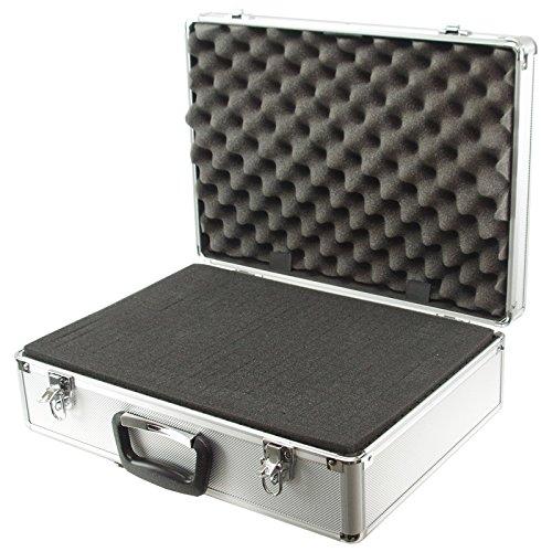 aluminium koffer mit schaumstoff auskleidung zur sicheren aufbewahrung 460 x 330 x 150 mm nonacx. Black Bedroom Furniture Sets. Home Design Ideas
