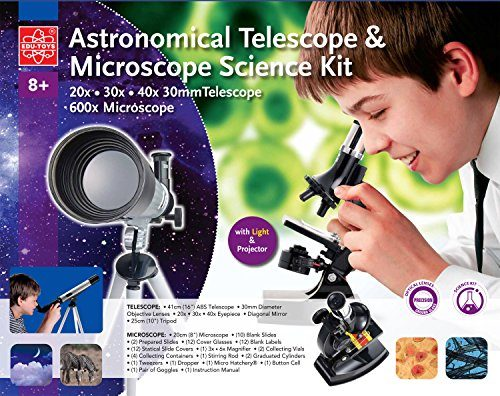 Teleskop und mikroskop set für den einstieg in kosmos und